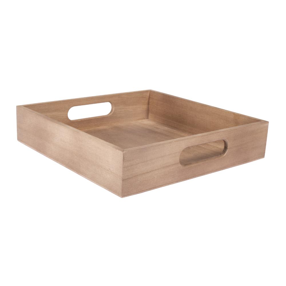 Holz Tablett, FSC 100%, 24x24x5cm, natur