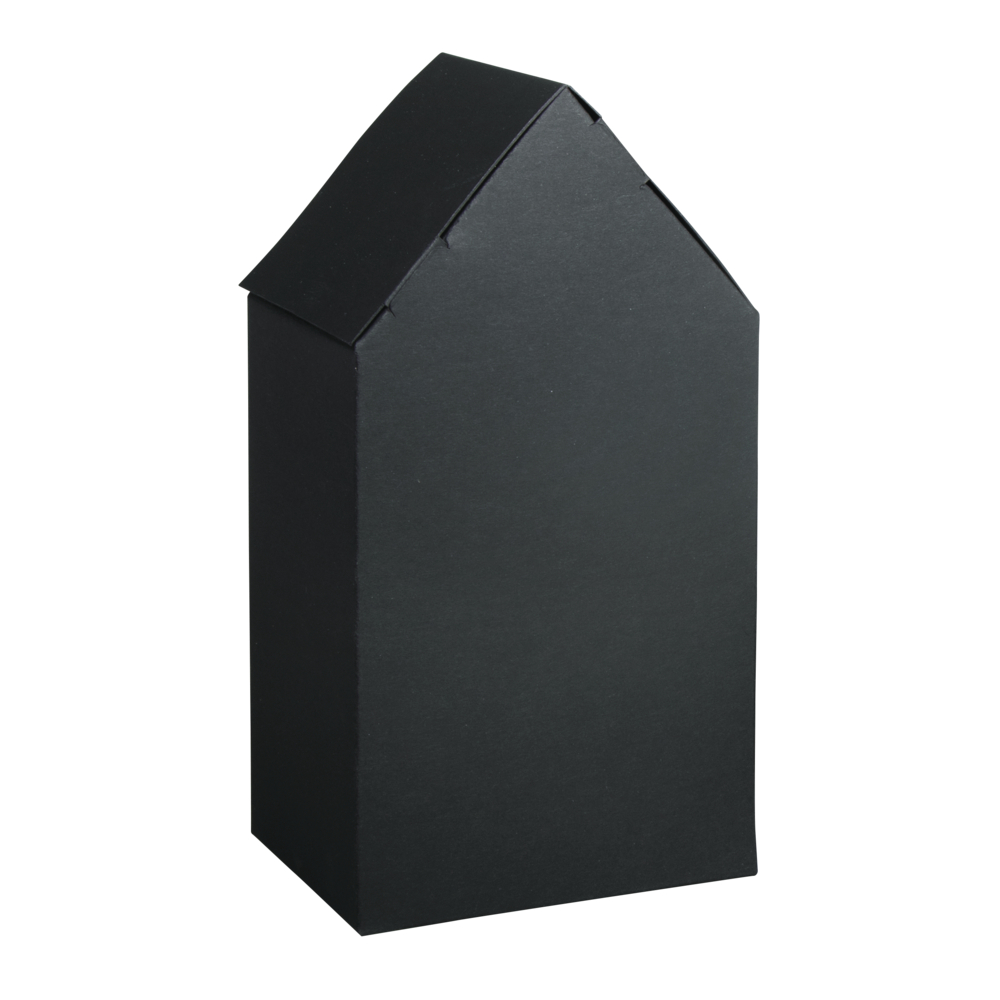 Faltschachtel Haus, 10x7,5x20cm, Set 3Stück, schwarz
