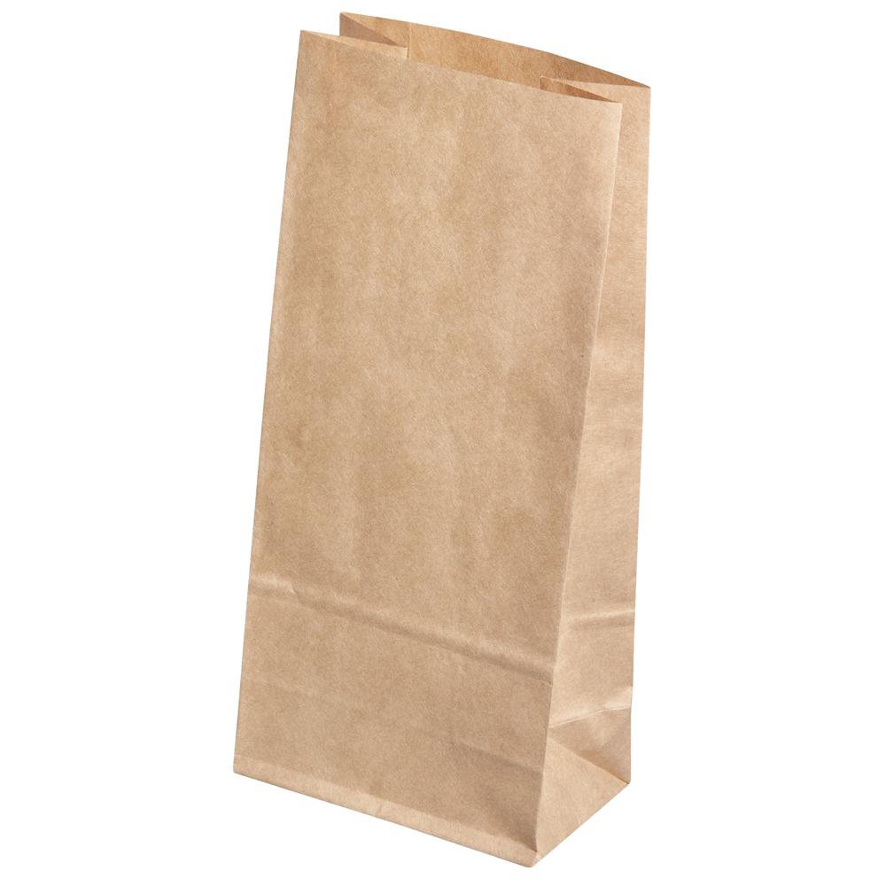 Papiertüte braun, Lebensmittelecht, 11x6x22,5cm, SB-Btl 6Stück