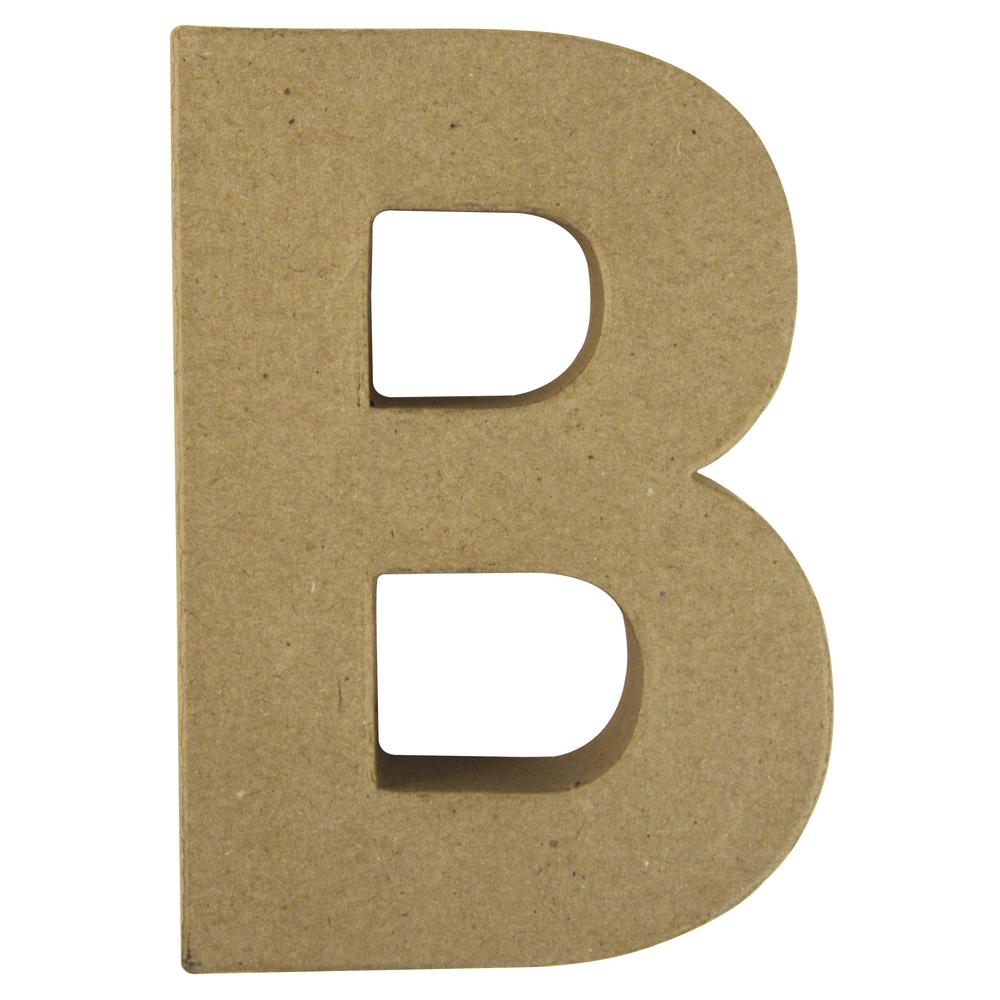 Pappmaché Buchstabe B FSC Recycled100%, 15x10,5x3cm
