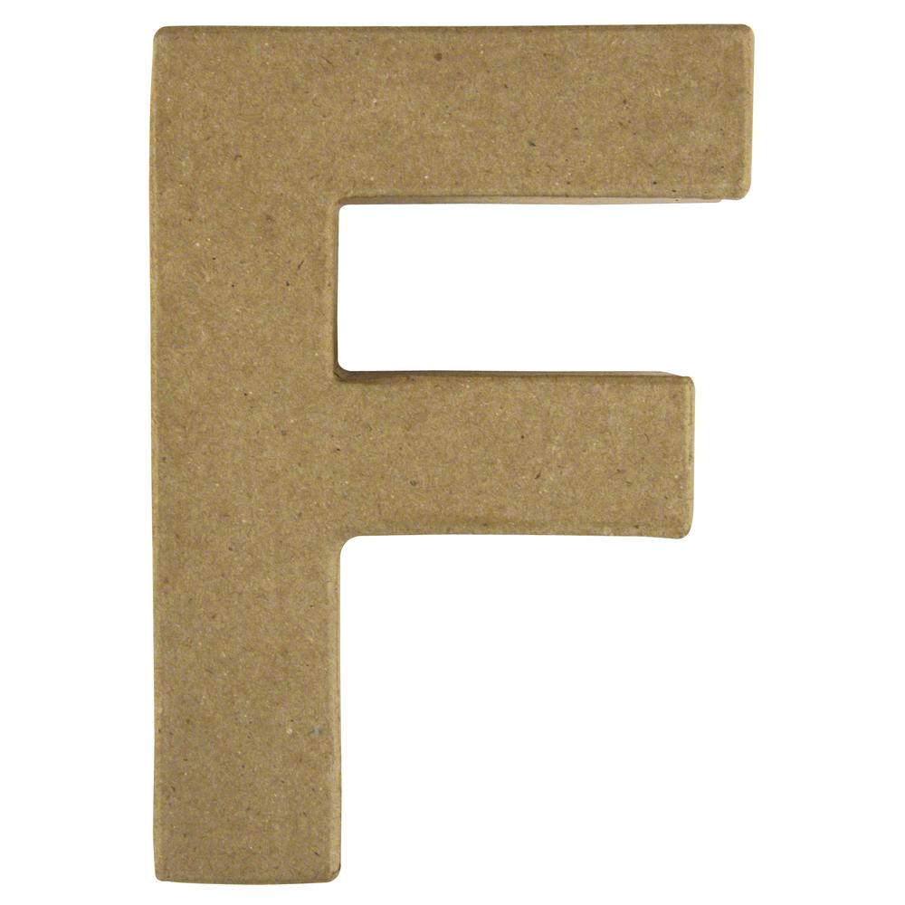 Pappmaché Buchstabe F FSC Recycled100%, 15x10,5x3cm
