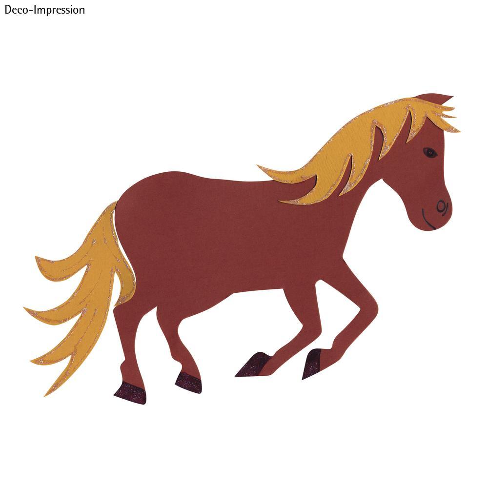 Bastelset Schultüten-Verzierung, Motiv Pferd