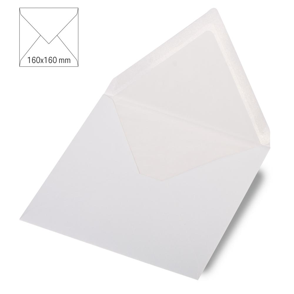Kuvert quad.,metallic, FSC Mix Credit, 160x160mm, 90g/m2, Beutel 5Stück