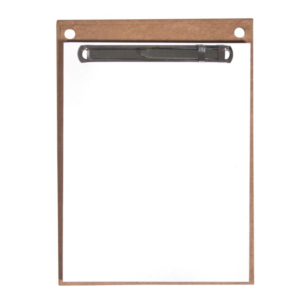 Papphalterung m. Notizzettel,FSCMixCred, 11,5x15,5cm, 30 Bl. weiß, SB-Btl 1Stück, kraft