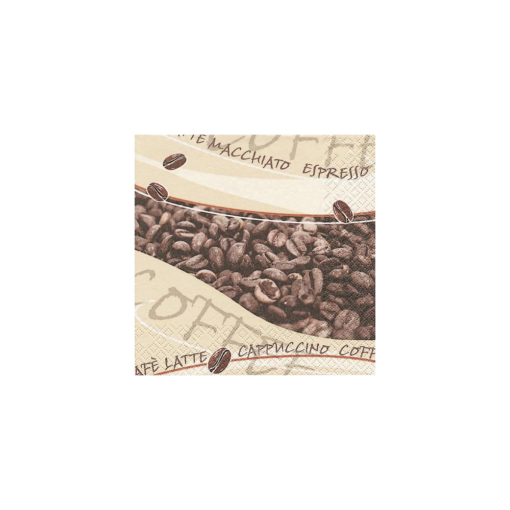 Cocktail-Servietten, 25x25 cm, Packung 20 Stück, Coffee
