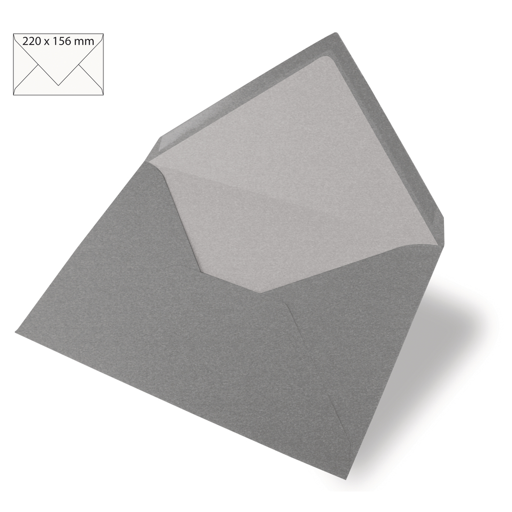 Kuvert für Karte A5, uni, FSC Mix Credit, 220x156mm, 90g/m2, Beutel 5Stück