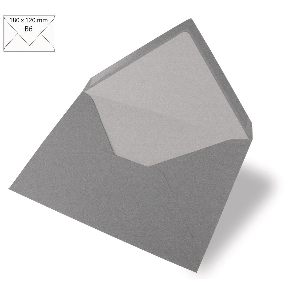 Kuvert B6, uni, FSC Mix Credit, 180x120mm, 90g/m2, Beutel 5Stück