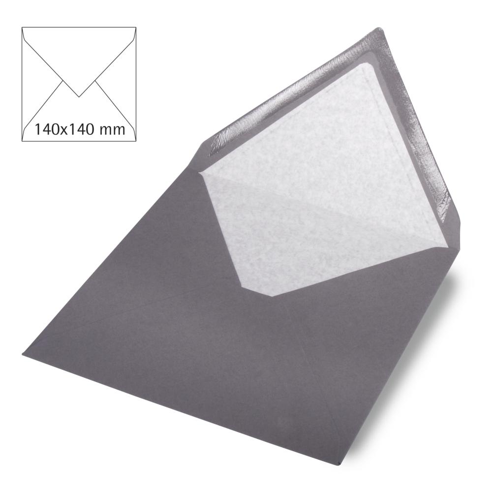 Kuvert quadratisch, uni,FSC Mix Credit, 140x140mm, 90g/m2, Beutel 5Stück