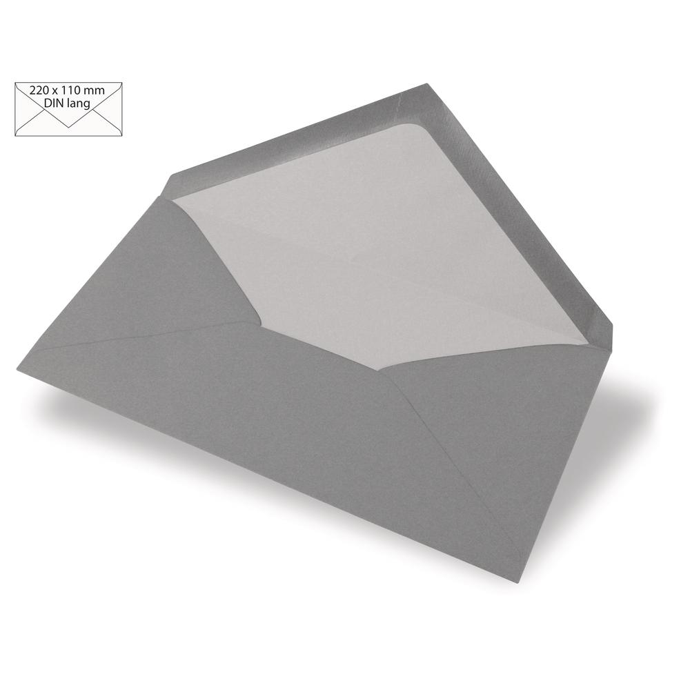 Kuvert DIN Lang, uni, FSC Mix Credit, 220x110mm, 90g/m2, Beutel 5Stück