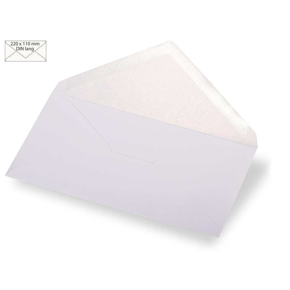 Kuvert DIN lang, met.,FSC Mix Credit, 220x110mm, 120 g/m2, Beutel 5Stück