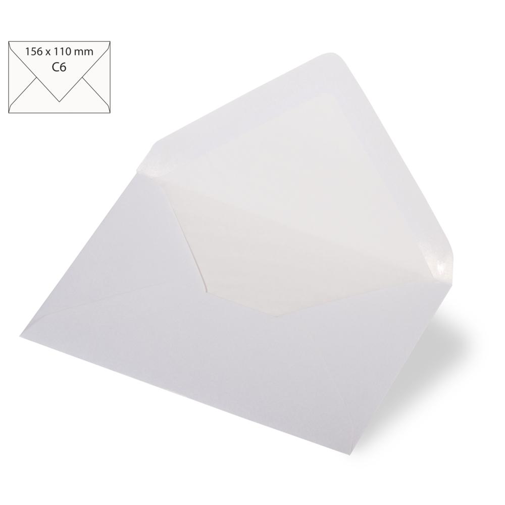 Kuvert C6, metallic, FSC Mix Credit, 156x110mm, 120 g/m2, Beutel 5Stück
