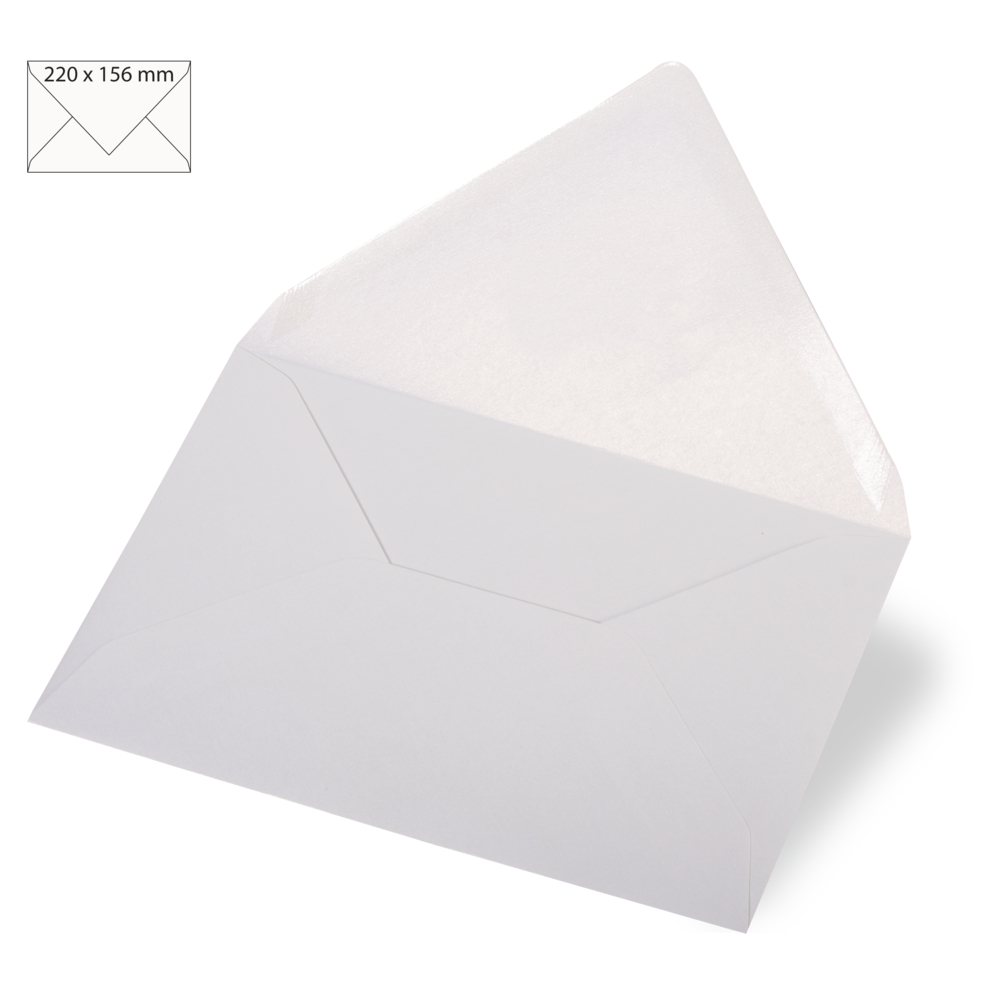 Kuvert f. Karte A5, met., FSC Mix Credit, 220x156mm, 120 g/m2, Beutel 5Stück