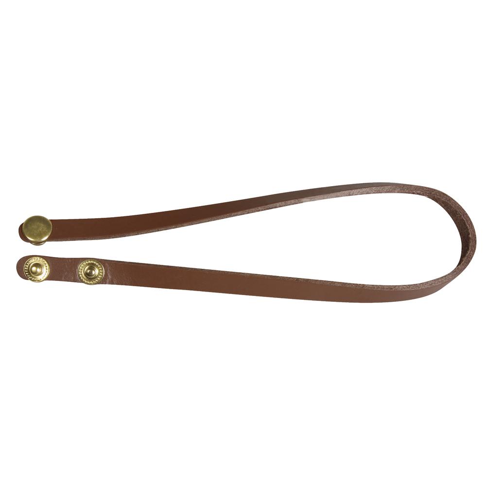 Echtleder Armband m. Druckverschluss, 40x1x0,2cm, Druckknöpfe gold, SB-Btl