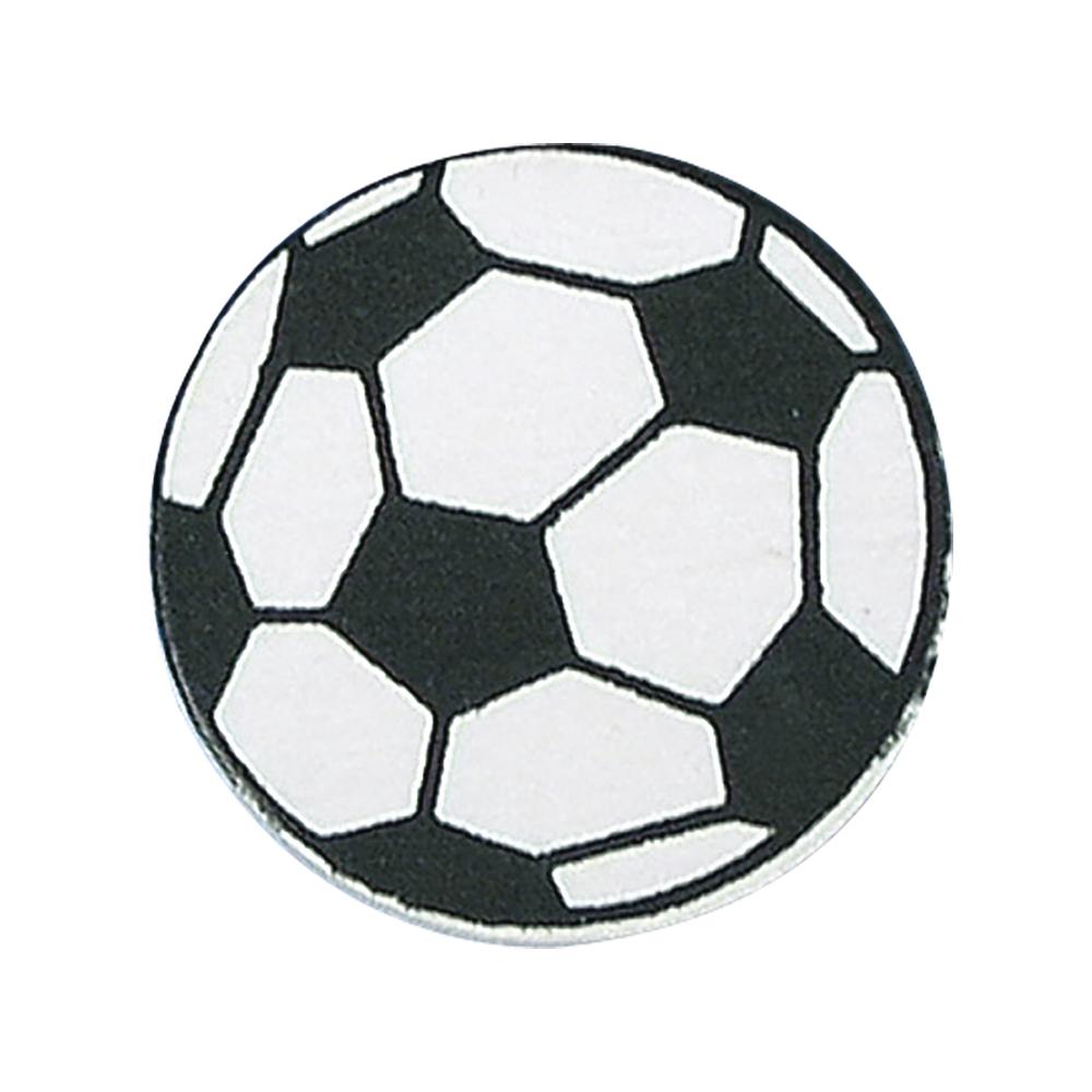 Holzstreuteile: Fußball, 3 cm, SB-Btl. 6 Stück