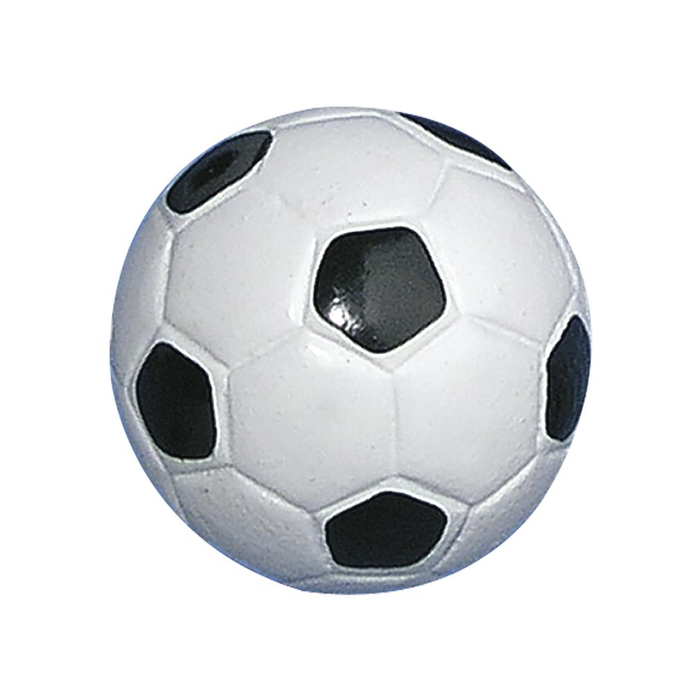Polyresin-Fußball, 2,5 cm ø, SB-Btl. 6 Stück