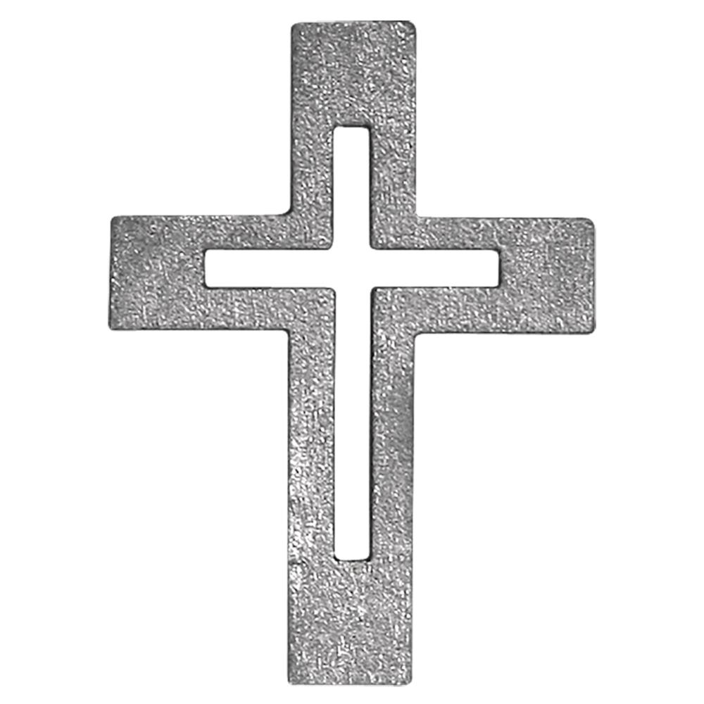 Holzstreuteile Kreuz, 3 cm, SB-Btl. 6 Stück, silber